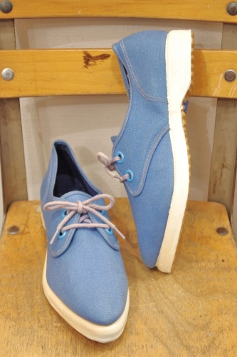 DEAD STOCK U.S.KEDS POINTED TOE CANVAS SNEAKER(H.BLE)