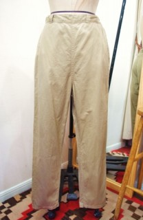 60'S~ CHINO CLOTH SIDE ZIP SABRINA CIGARETTE PANTS(BEIGE)