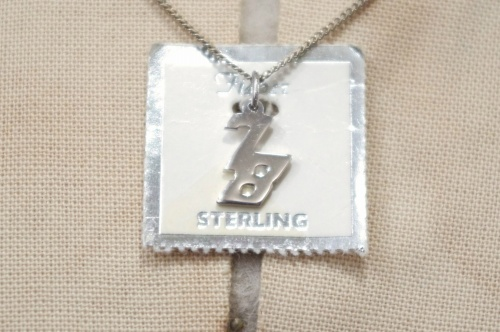 DEAD STOCK 70'S~ NUMBERING 78 SILVER CHARM NECKLACE(SLV)