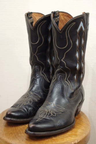 50'S~ ACME INLAY BOOTS(BLK/P.BLE)