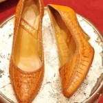 IM80'S~ POINTED TOE MESH LEATHER PUMPS(L.BRN)