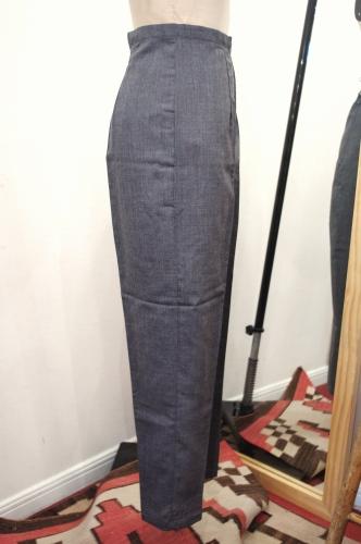 DEADSTOCK 60'S~ SIDE ZIP SABRINA CIGARETTE PANTS(C.GRY)