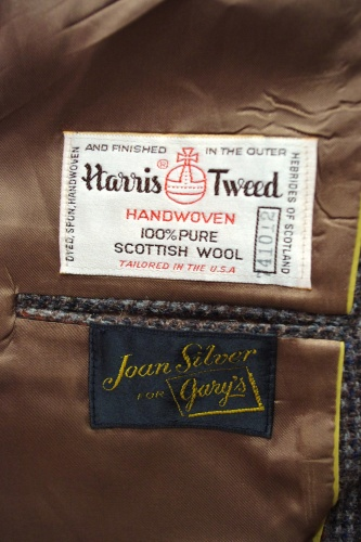 80'S~ HARRIS TWEED TAILORED JACKET(A.BRN)