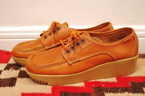 vintage 70s leather shoes