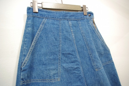 vintage 70s denim skirt