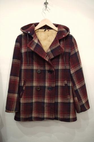 40's check p-coat