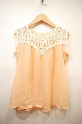 vintage cotton lace gauze tops