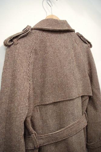 vintage wool short trench coat