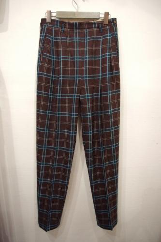 vintage side zip wool pants