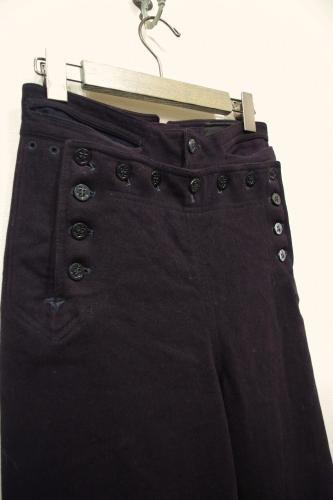 vintage wool sailor pants