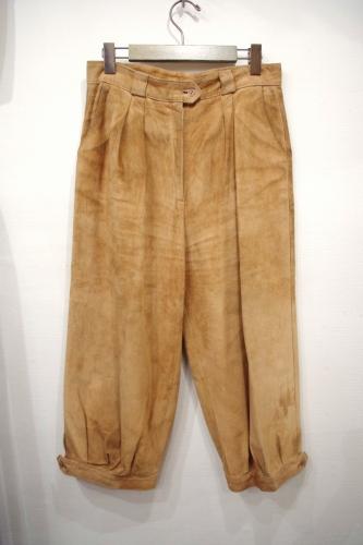 vintage suede cropped pants