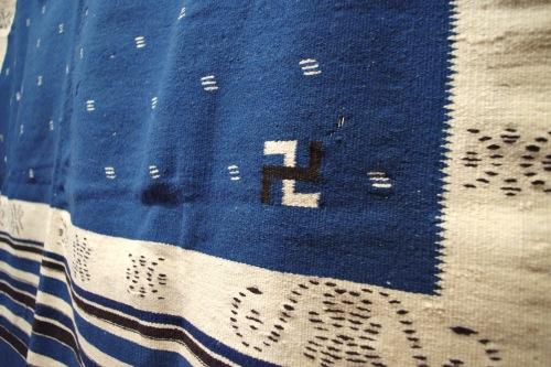 vintage rio grande swastika rug