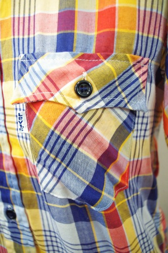 70'S~LEVI'S CHECK SHORT SLEEVE SHIRTS(WHT/RED/NAVY/YLW/P.BLE)
