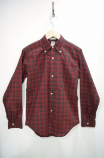 60'S~ McGREGOR PREP CHECK B.D. L/S SHIRTS(RED/GRN)