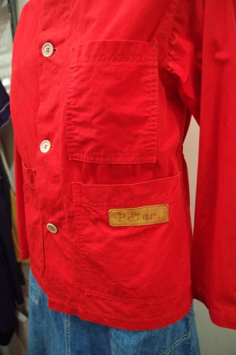 50'S~ COTTON COLLARLESS HUNTING RIFLE JACKET WIHT PATCH(RED)
