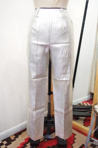 DEADSTOCK 60'S~70'S SIDE ZIP SABRINA CIGARETTE PANTS(SLV)