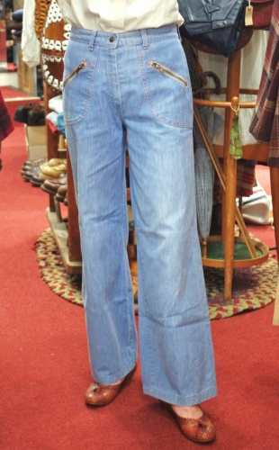 70'S~ SEARS DENIM WIDE LEG BAGGY PANTS(I.BLE)