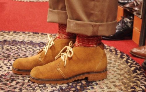 70'S~ SUEDE LACE UP ANKLE BOOTS(L.BRN)