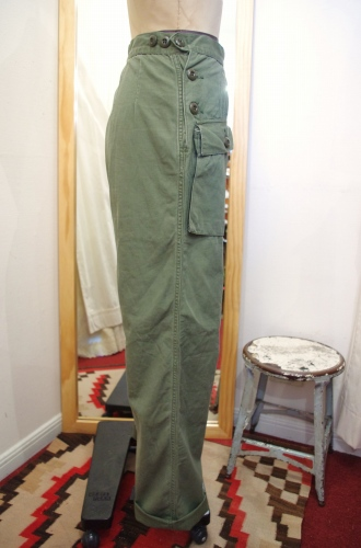 70's~ WOMEN'S US MILITARY RIPSTOP UTILITY PANTS(OD)