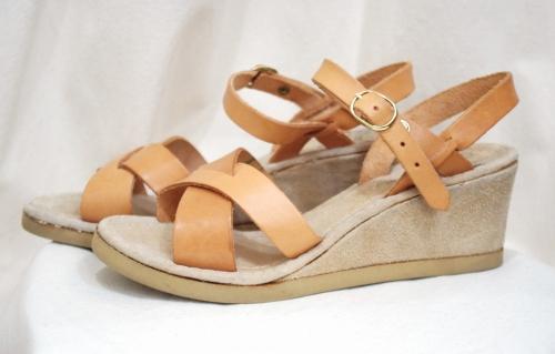 vintage wedge sandal