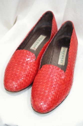mesh leather shoes