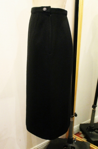 60'S CASHMERE TIGHT SKIRT (BLK)