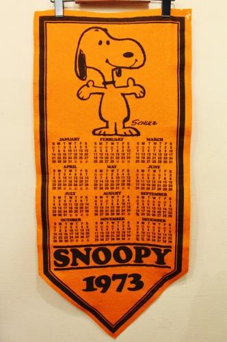 VINTAGE '73 SNOOPY PENNANT CALENDAR (ORG)